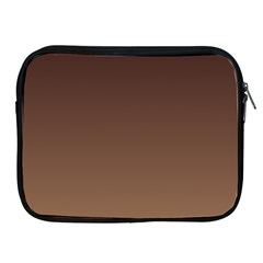 Seal Brown To Chamoisee Gradient Apple iPad 2/3/4 Zipper Case