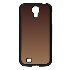 Seal Brown To Chamoisee Gradient Samsung GALAXY S4 I9500 (Black)
