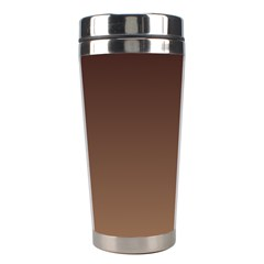 Seal Brown To Chamoisee Gradient Stainless Steel Travel Tumbler