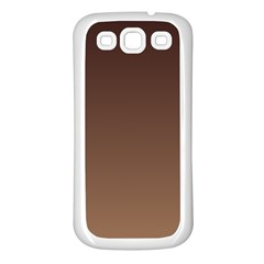 Seal Brown To Chamoisee Gradient Samsung Galaxy S3 Back Case (White)