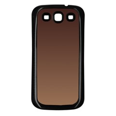 Seal Brown To Chamoisee Gradient Samsung Galaxy S3 Back Case (Black)