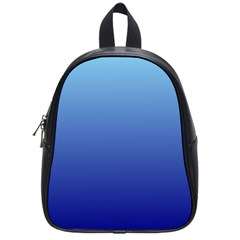 Baby Blue To Navy Blue Gradient School Bag (small)