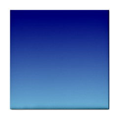 Navy Blue To Baby Blue Gradient Ceramic Tile