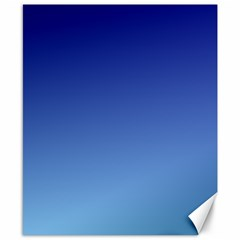 Navy Blue To Baby Blue Gradient Canvas 8  X 10  (unframed)