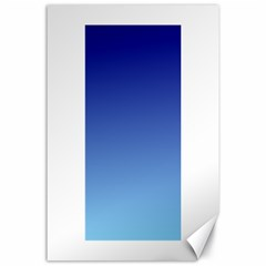 Navy Blue To Baby Blue Gradient Canvas 24  x 36  (Unframed)