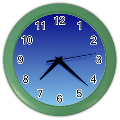 Navy Blue To Baby Blue Gradient Wall Clock (color)