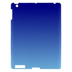 Navy Blue To Baby Blue Gradient Apple iPad 3/4 Hardshell Case