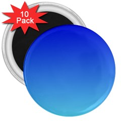 Medium Blue To Electric Blue Gradient 3  Button Magnet (10 pack)