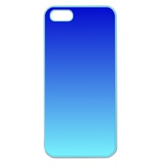 Medium Blue To Electric Blue Gradient Apple Seamless iPhone 5 Case (Color)