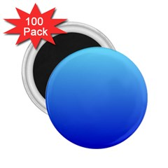 Electric Blue To Medium Blue Gradient 2 25  Button Magnet (100 Pack)