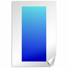 Electric Blue To Medium Blue Gradient Canvas 24  x 36  (Unframed)