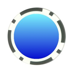 Electric Blue To Medium Blue Gradient Poker Chip 10 Pack
