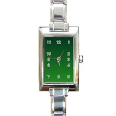 Dark Green To Green Gradient Rectangular Italian Charm Watch