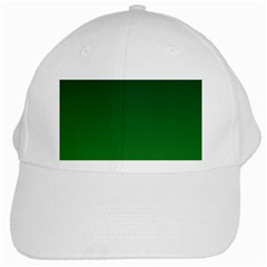 Dark Green To Green Gradient White Baseball Cap