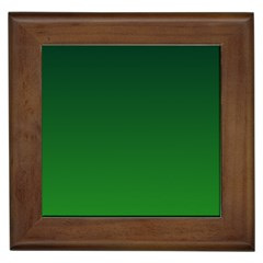 Dark Green To Green Gradient Framed Ceramic Tile