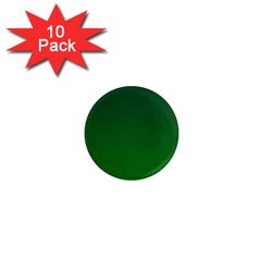 Dark Green To Green Gradient 1  Mini Button Magnet (10 Pack)