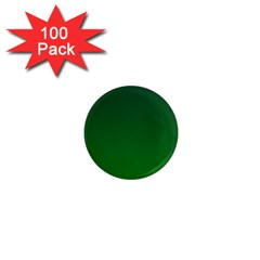 Dark Green To Green Gradient 1  Mini Button Magnet (100 pack)