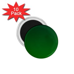 Dark Green To Green Gradient 1.75  Button Magnet (10 pack)