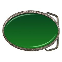 Dark Green To Green Gradient Belt Buckle (Oval)
