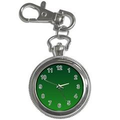 Dark Green To Green Gradient Key Chain & Watch