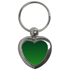 Dark Green To Green Gradient Key Chain (heart)
