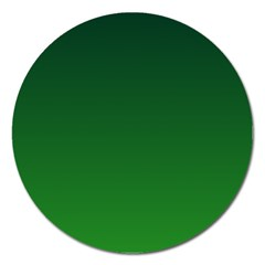 Dark Green To Green Gradient Magnet 5  (Round)