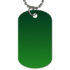 Dark Green To Green Gradient Dog Tag (One Sided)
