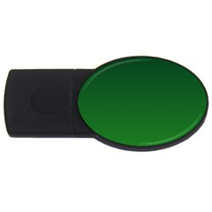 Dark Green To Green Gradient 1GB USB Flash Drive (Oval)