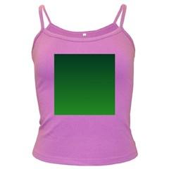 Dark Green To Green Gradient Spaghetti Top (Colored)