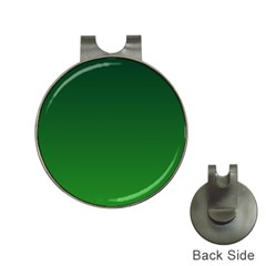 Dark Green To Green Gradient Hat Clip With Golf Ball Marker