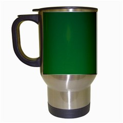 Dark Green To Green Gradient Travel Mug (White)