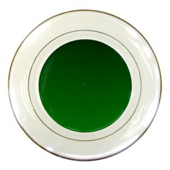 Dark Green To Green Gradient Porcelain Display Plate
