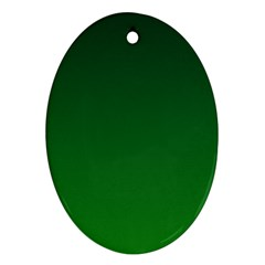 Dark Green To Green Gradient Oval Ornament (Two Sides)