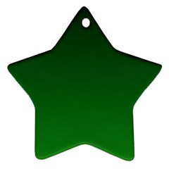 Dark Green To Green Gradient Star Ornament (Two Sides)
