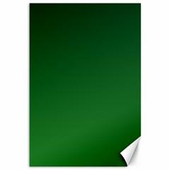 Dark Green To Green Gradient Canvas 12  x 18  (Unframed)