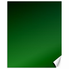 Dark Green To Green Gradient Canvas 16  X 20  (unframed)
