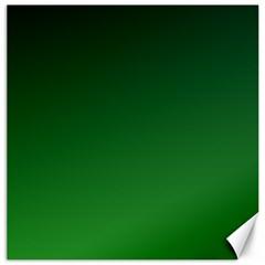 Dark Green To Green Gradient Canvas 20  X 20  (unframed)