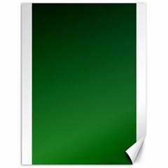 Dark Green To Green Gradient Canvas 18  X 24  (unframed)