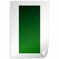 Dark Green To Green Gradient Canvas 24  x 36  (Unframed)
