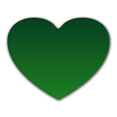 Dark Green To Green Gradient Mouse Pad (Heart)