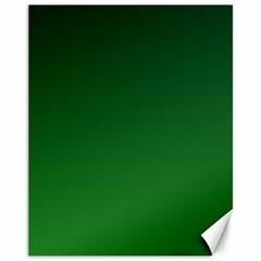 Dark Green To Green Gradient Canvas 11  X 14  (unframed)