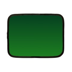 Dark Green To Green Gradient Netbook Case (Small)
