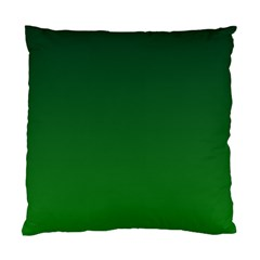 Dark Green To Green Gradient Cushion Case (two Sides)