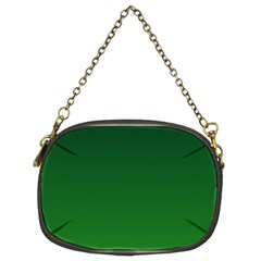 Dark Green To Green Gradient Chain Purse (two Side)