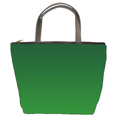 Dark Green To Green Gradient Bucket Bag