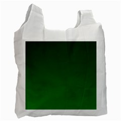 Dark Green To Green Gradient Recycle Bag (one Side)