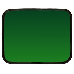 Dark Green To Green Gradient Netbook Case (xxl)
