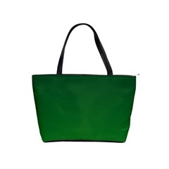 Dark Green To Green Gradient Large Shoulder Bag