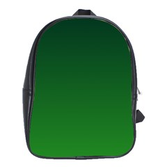 Dark Green To Green Gradient School Bag (large)