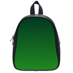 Dark Green To Green Gradient School Bag (Small)